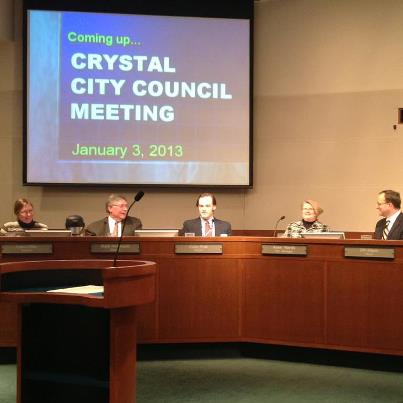 Crystal City Council meeting with new members